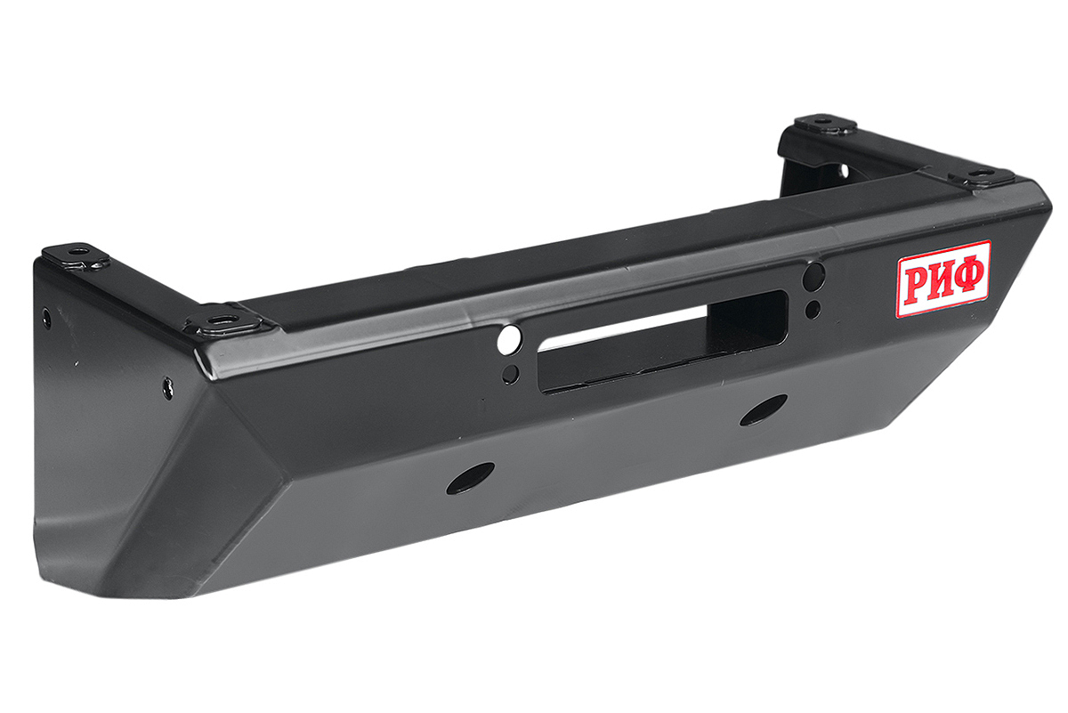 Winch mount frame with steering rod guard for factory front bumper for UAZ Hunter