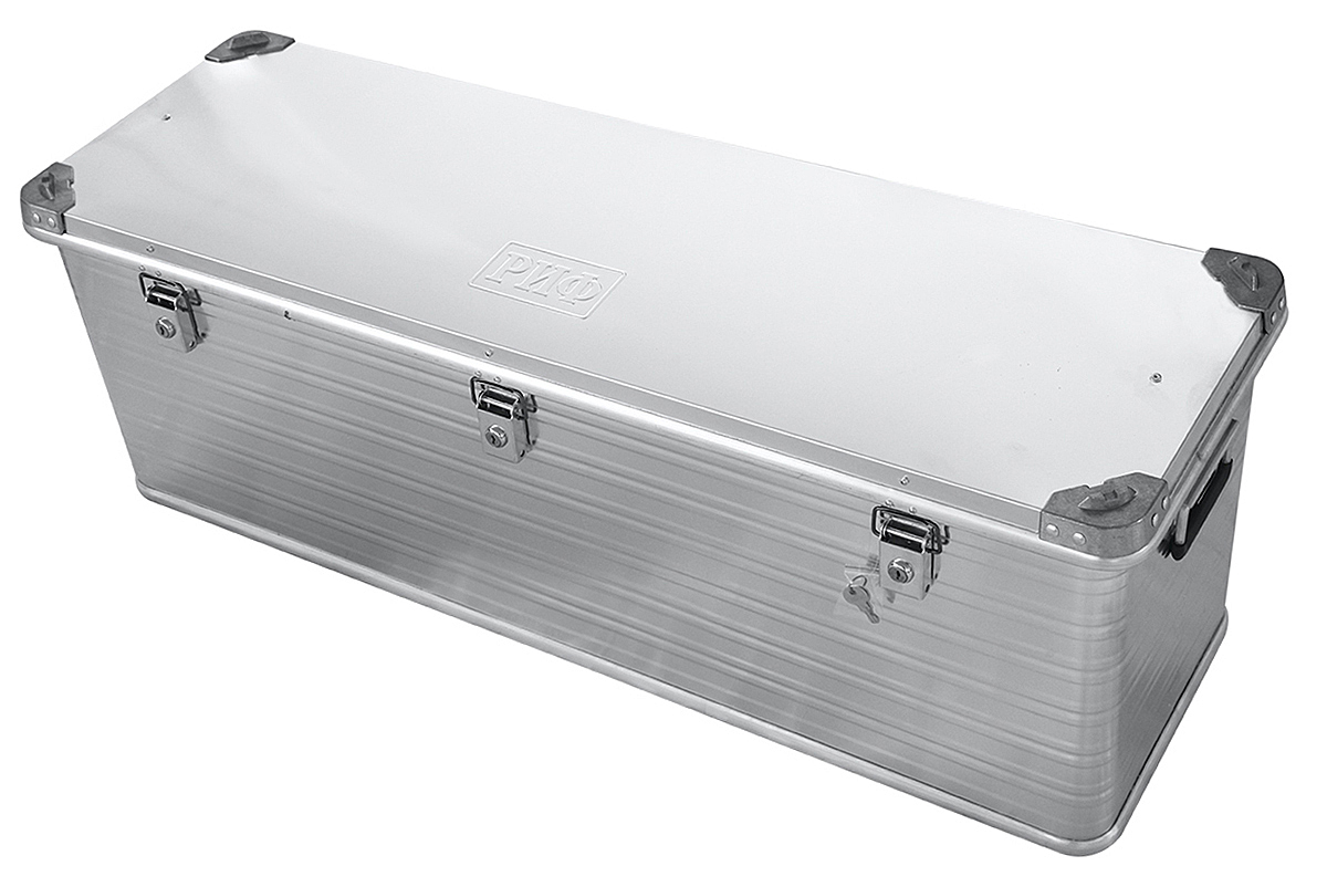 RIF aluminium box reinforced with lock 1176х385х412 mm (LxWxH)