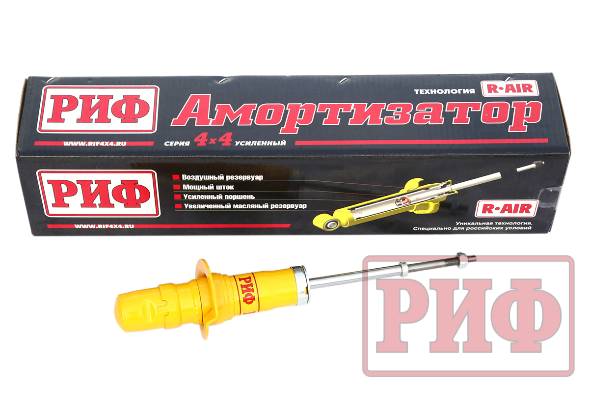 RIF front oil shock absorber for Ssang Yong Rexton 1,2, XVT, Kyron reinforced standard (no lift) and lift 30 mm