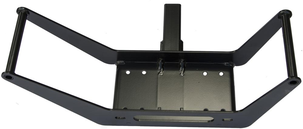 Frame for portable winch for hitch