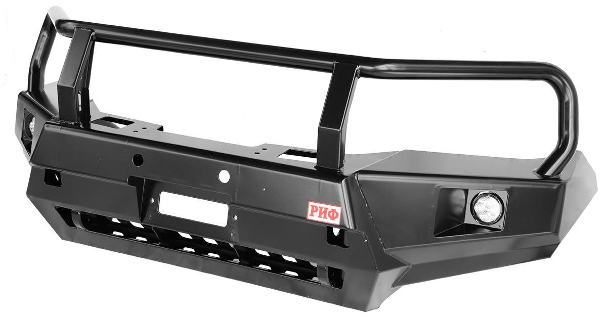 Bull bar with loops, lights and winch mount frame for Toyota Hilux 2015+
