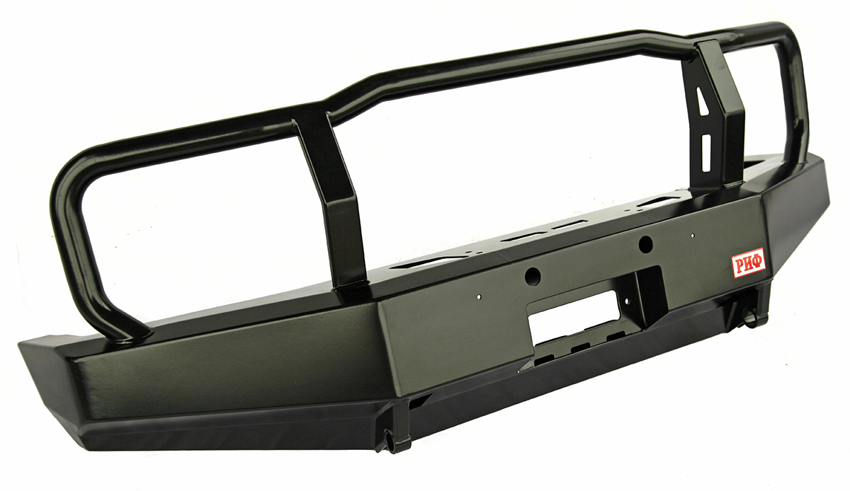 Bull bar with loops with winch mount frame for Toyota Land Cruiser 76/78 2007+