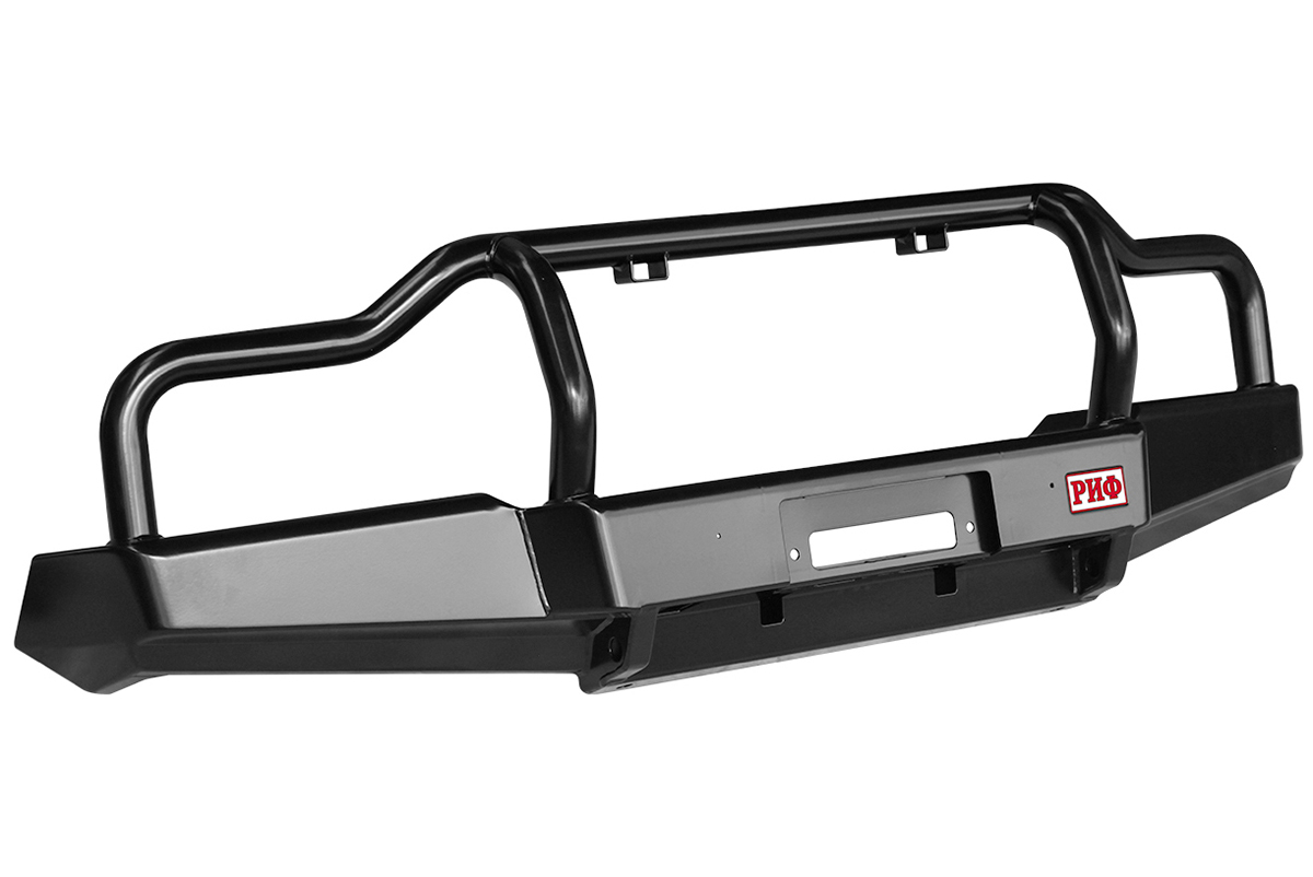 RIF bull bar with low loops and winch mount frame, lift 65 mm